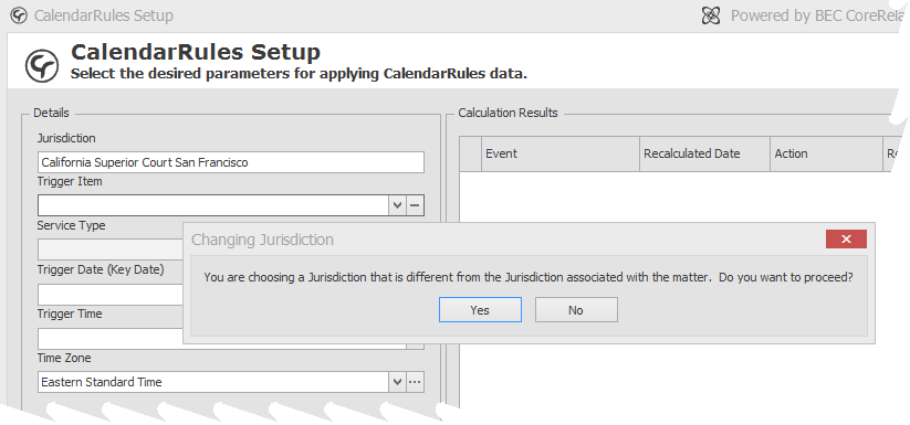Scheduling with Jurisdiction other than matter's jurisdiction