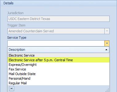 Jurisdiction-specific service types