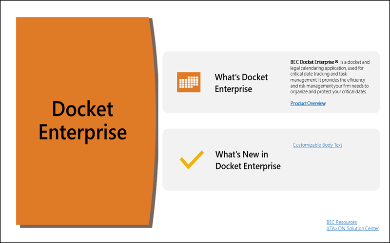 Docket Enterprise | Legal Calendaring