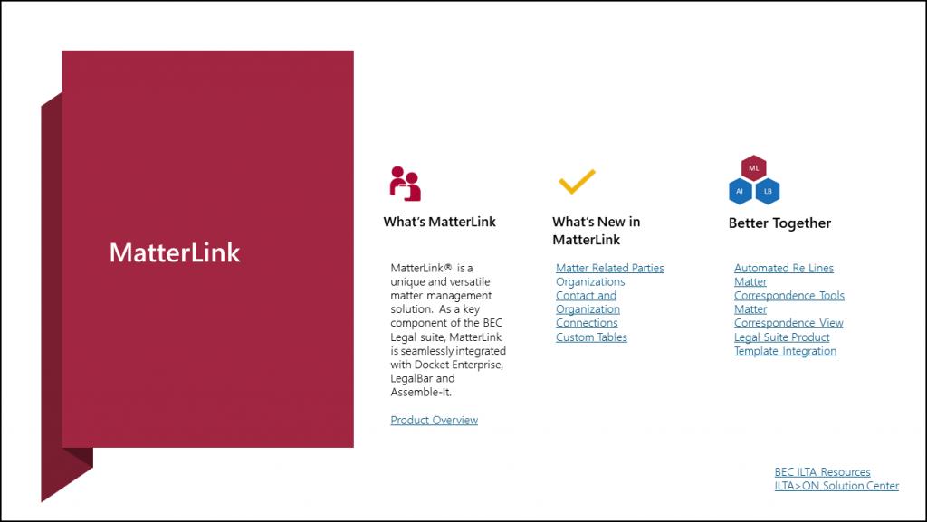 MatterLink Matter Management