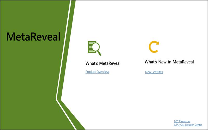 MetaReveal Metadata Management