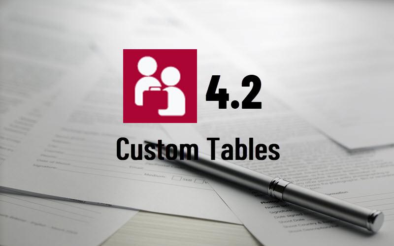 MatterLink Custom Tables