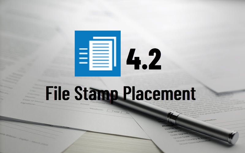 File Stamp Placement Options