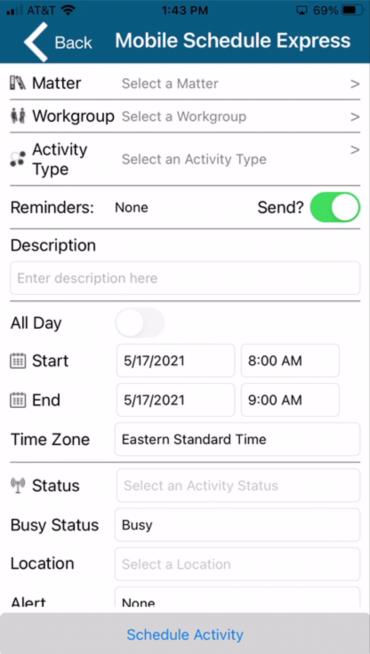 Docket Mobile Scheduling